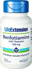 Life Extension Benfotiamine w/ Thiamine 120 vegetarian capsules