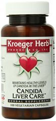 Kroeger Herb Candida Liver Care Vegetarian Capsules, 100 Count