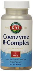 KAL Coenzyme B-Complex Tablets, 60 Count