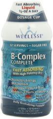 WELLESSE Complete Liquid Vitamin Supplement, B Complex, 16 Ounce