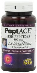 Natural Factors Peptace Fish Peptides, 90  Capsules