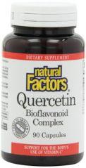 Natural Factors Quercetin Bioflavonoid 235 mg Capsules, 90-Count