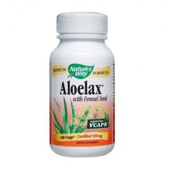 "Nature""s Way Aloe Lax with Fennel Seed Vegetarian Capsules, 100 Count"