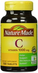 Nature Made Vitamin C 1000mg, 100 Tablets (Pack of 3)