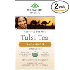 Organic India Health & Fitness - Organic India Tulsi Tea,Lemon Ginger, 18 Count (Pack of 2)