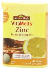 Nature Made Vitamelts Zinc Smooth Dissolve Tablet, 15 mg, 60 Count