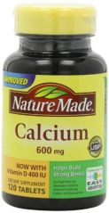 Nature Made Calcium 600mg with Vitamin D, 120 Tablets (Pack of 3)