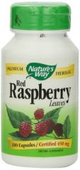 """Nature""""s Way Red Raspberry Leaves , 450 mg, 100 Capsules"""