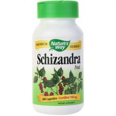 "Nature""s Way Schizandra Fruit, 100 Capsules  (Pack of 2)"