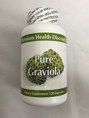 Natural Health Labs Pure Graviola Dietary Supplement 120 Capsules