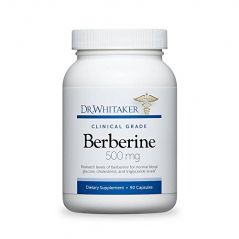 "Dr. Whitaker""s Berberine 500 mg Supplement for Blood Sugar Support, 90 Capsules (30-Day Supply)"