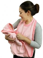 Extra Large Hands Free Absorbent Hooded Towel, Pink, Frenchie Mini Couture