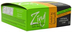 Zing Nutrition Bar-Oatmeal Chocolate Chip-Box - 12 Bars - 1lb. 5.12 oz. Box