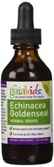 Gaia Kids Echinacea Goldenseal Herbal Drops, 2-Ounce Bottle