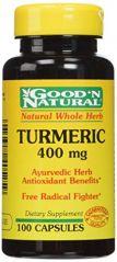 """Good""""N Natural - Turmeric 400 mg, 100 Caps"""