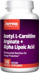 Jarrow Formulas Acetyl L-Carnitine Arginate (ALCA)  and Alpha Lipoic Acid (ALA), 100 Capsules