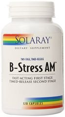 Solaray B Stress AM Two Stage Timed Release Supplement, 120 Count