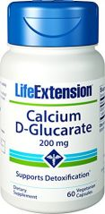 Life Extension Calcium D-Glucarate 200 Mg, 60 vegetarian capsules