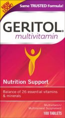 Geritol Complete Multi-Vitamin Mineral Supplement Tablets, 100-Count Bottles (Pack of 2)