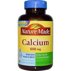 Nature Made Calcium With Vitamin D3 -- 600 Mg 100 Liquid Softgels (Pack Of 1)