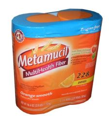 Metamucil Sugar Free, Orange Smooth - 46.6 oz Bottle (Pack of 2- 228 doses)