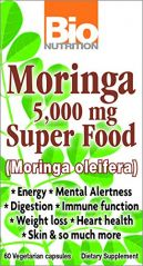 Bio Nutrition Moringa 5,000 Mg Super Food 60 Capsules (2 Pack)