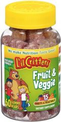 "L""il Critters Fruit & Veggie Bears Dietary Supplement, Assorted Flavors, 60-Count Bottles (Pack of 4)"