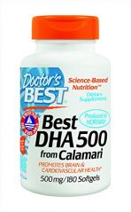 "Doctor""s Best Best DHA 500 from Calamari, 500 mg, 180 Softgel Capsules"