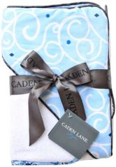 Caden Lane Luxe Collection Swirl Hooded Towel Set, Light Blue, Infant