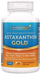 NutriGold Astaxanthin Gold, 4 mg, 120 Liquid Veggie Capsules