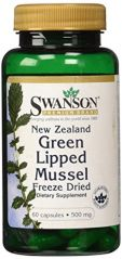 New Zealand Green Lipped Mussel 500 mg 60 Caps