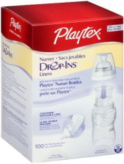 Playtex Bottle Liners Drop-Ins, 4 Ounce, 100-Count Packaging may vary