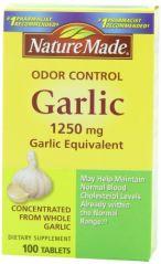 Nature Made Odor Control Garlic, 1250mg, 100 Tabs