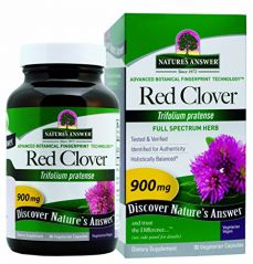 "Nature""s Answer Red Clover Top Vegetarian Capsules, 90-Count"