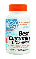 """Doctor""""s Best Curcumin C3 Complex with BioPerine (500 Mg), Capsules, 120-Count"""