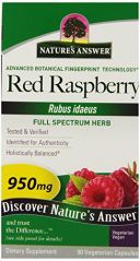 "Nature""s Answer Red Raspberry Leaf Vegetarian Capsules, 90-Count"