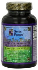 Blue Ice Royal Butter Oil / Fermented Cod Liver Oil Blend - 120 Capsules