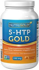 5-HTP 100mg, 120 Vegetarian Capsules - The GOLD Standard Pure 5-HTP Extract Guaranteed Free of Harmful Peak-X, GMOs, and Allergens