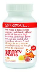SmartyPants Gummy Vitamins with Omega 3 Fish Oil and Vitamin D, 120 Count