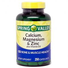 Spring Valley - Calcium Magnesium and Zinc, 250 Caplets
