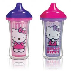 Munchkin Hello Kitty Click Lock 2 Count Insulated Sippy Cup, 9 Ounce