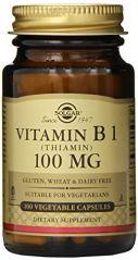 Solgar Vitamin B1 Thiamin Vegetable Capsules, 100 mg, 100 Count