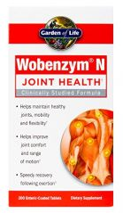 Garden of Life Wobenzym N, 200 Tablets (Packaging May Vary)