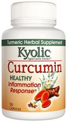 Kyolic Aged Garlic Extract Curcumin Healthy Inflammation Response Supplement (50-Capsules)