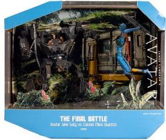 Mattel James Camerons Avatar Movie SDCC 2010 San Diego Comic Con Exclusive Playset Final Battle Avatar Jake Sully Vs. Colonel Miles Quaritch