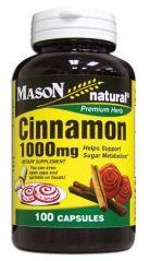 Mason Natural Cinnamon 1000 mg, 100 Capsules (Pack of 4)