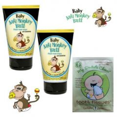 Baby Anti-Monkey Butt Cream 3 Oz. **2 Pack** and BONUS Tooth Tissue Sample