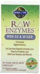 Garden of Life RAW Enzymes(TM) Men 50 & Wiser, 90 Capsules