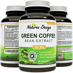 Pure Green Coffee Bean Extract - Highest Grade & Quality Antioxidant GCA (Standardized to 50% Chlorogenic Acid) for Men & Women (Best Formula)