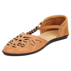 Women's & Girl's Flat Stylish Tan Sandals (code - SWS-102TN)